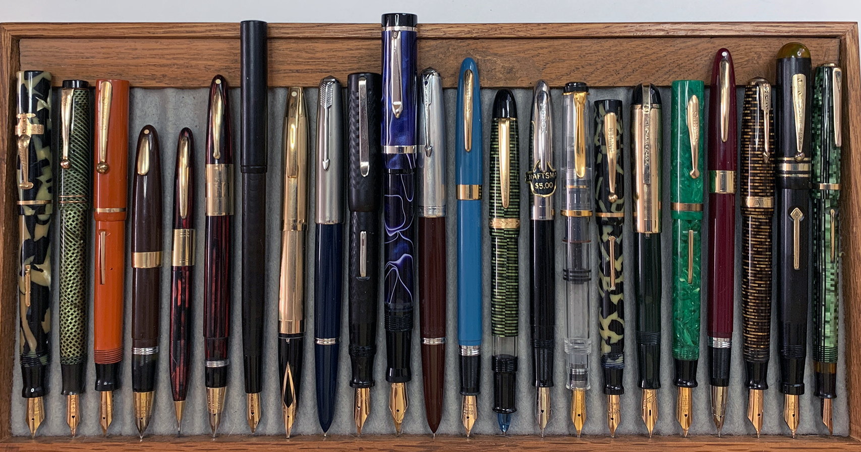 Tray of pens for sale