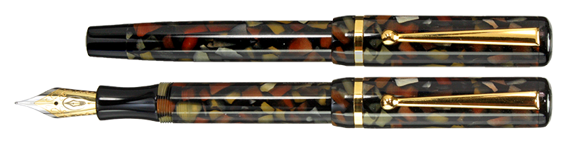 Bedrock Flake Edison Beaumont Fountain Pen