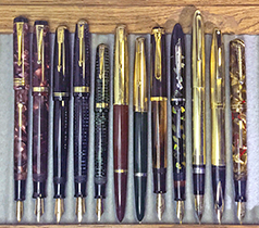 December Monthly Pen Show Tray