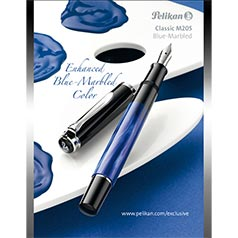 Pelikan M205 Blue Marble Fountain Pen