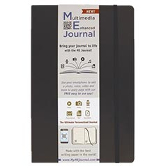 Multimedia Enhanced ME Journal, Black, 6 1/4 x 9 1/4 Lined Ivory Paper