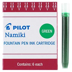 Pilot Namiki Green Ink Cartridges