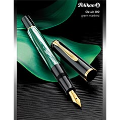 Pelikan M200 Green Marble Fountain Pen