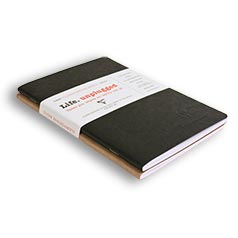 Clairefontaine Basic Notebooks Side Staplebound Duo Black/Tan
