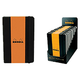 Rhodia Boutique Webnotebooks Bound 5½ x 8¼ Lined Black