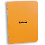 Rhodia Classic Notebooks Side Staplebound 3 x 4¾ Graph Orange