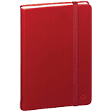 Quo Vadis Habana Journal, Red, 6 1/4 x 9 1/4 Lined White Paper 80 sheets