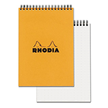 Rhodia Classic Pad Wirebound 6 x 8¼ Orange Dot Grid