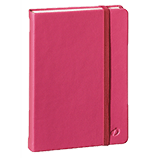 Quo Vadis Bound Journals Habana 4 x 6 3/8 Blank Raspberry White Paper 96 sheets