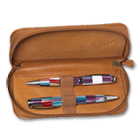 Aston Zipper 2-Pen Case