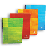 Clairefontaine Classic Notebooks Side Clothbound 8 ¼ x 11 ¾ Graph Assorted Covers 96 sheets