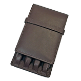 Girologio 4 Pen Brown Leather Case