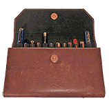 Girologio 12 Pen Leather Clutch