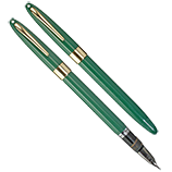 Sheaffer Green Snorkel Satesman, Fine Nib