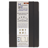 Multimedia Enhanced ME Journal, Black, 4 x 6 3/8 Lined Ivory Paper