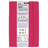Multimedia Enhanced ME Journal, Raspberry, 6 1/4 x 9 1/4 Lined Ivory Paper