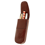 Aston Three Pen Leather Case