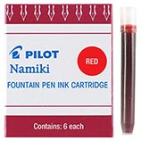 Pilot Namiki Red Ink Cartridges