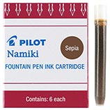 Pilot Namiki Sepia Ink Cartridges