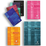 Clairefontaine Classic Notepads Top Staplebound 6 x 8 ¼ Graph Assorted Covers 80 sheets