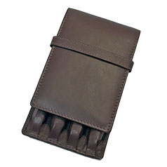 Girologio 4 Pen Brown Leather Case
