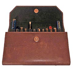 Girologio 12 Pen Leather Clutch