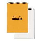 Rhodia Classic Pad Wirebound 6 x 8¼ Orange Dot Grid