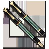 Pelikan M400 Green Stripe, XXF Nib