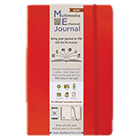 Multimedia Enhanced ME Journal, Red, 4 x 6 3/8 Lined Ivory Paper