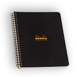 Rhodia Classic Meeting Book Wirebound 6½ x 8¼ Lined Black