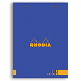 Rhodia ColorR Premium Stapled Notepad Sapphire 6 x 8¼ Lined