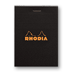 Rhodia Classic Notepads Top Staplebound 2 x 3 Lined Black
