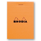 Rhodia Classic Notepads Top Staplebound 2 x 3 Lined Orange